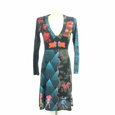 DESIGUAL Kleid Dress Sweatkleid Schwarz Bunt Gr. M 38 (BG98)