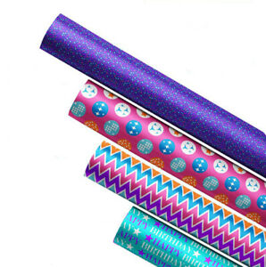 4 x Wrapping Paper Rolls for Kid's & Adult's   Gift Wrap   Each Roll 3m x 70cm