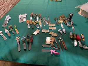 Cheese Spreaders and Cheese Forks +--Collection of 57 Pieces--Free US Shipping!!