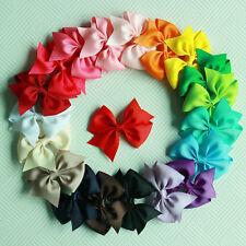 "20pcs 3"" Boutique Hair Bows Girls Kids Children Alligator Clip Grosgrain Ribbon"