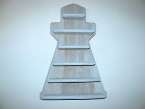 "Nautical Decor Lighthouse Wood Wall Shelf 15"" x 10""  6 shelves"