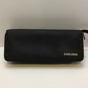 Vtg Case Logic Black Nylon 15 Cassette Carrying Case Padded Storage