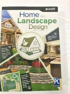 PUNCH! HOME & LANDSCAPE DESIGN 17.5 WIN XP,VISTA,WIN 7,WIN 8 *NEW*