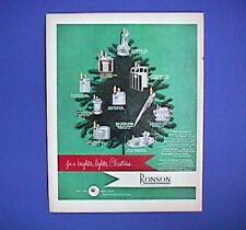 """RONSON Cigarette LIGHTERS Lot Vintage 1949 COLOR AD w Prices 10x14"""" Original"""