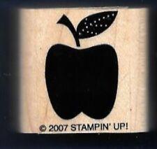 APPLE FRUIT STEM LEAF Gift Tag Fun Card Stampin' Up! 2007 Teacher RUBBER STAMP