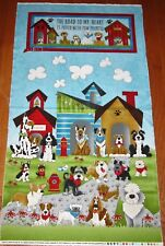 HOME IS WHERE THE DOG IS 100% Cotton Fabric Panel to SEW