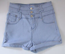 Ladies/Girls New Look Size 10 Hotpant denim Shorts Cotton Rich Light Blue