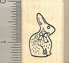 Chocolate Easter Rabbit rubber stamp B9113 Wm Bunny