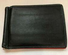 Mywalit Genuine Leather Wallet Blue Black Money Clip Red Orange Teal