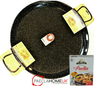 40cm  ENAMELLED STEEL PAELLA PAN PROFESSIONAL + SAFFRON PAELLA MIX GIFT