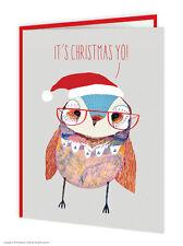 Brainbox CANDY Wildstyle IT'S CHRISTMAS YO! FUNNY GUFO animali CARD ECCENTRICO moderna