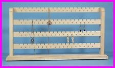 JEWELRY RACK - NATURAL UNFINISHED SOLID WOOD 148 Pc Earring Bracelet Display NEW