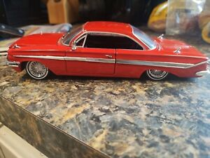 1961 Chevy Impala Custom Low rider DIECAST  1/24 SCALE