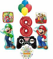 Super Mario Brothers Party Supplies 8th Birthday Balloon Bouquet Decorations