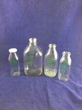 Vtg Lot of 4. Qt, 1/2 Gal,1/2 Liter Milk Bottles Vermont Country Milk Shelburne