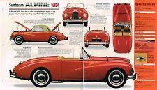 1953/1954/1955 SUNBEAM ALPINE SPEC SHEET/Brochure