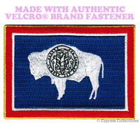 WYOMING STATE FLAG PATCH EMBROIDERED SYMBOL APPLIQUE w/ VELCRO® Brand Fastener