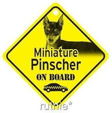 Miniature Pinscher On Board Dog Window Sign Made in Usa