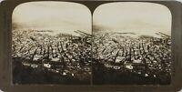 Italia Napoli Vista Di Uccello E Vesuvio, Foto Stereo Vintage Analogica PL60OYL5