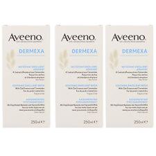 3 x Aveeno Dermexa Soothing Emollient Body Wash For Dry & Irritated Skin 250ml