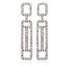 Geometric Austrian Crystal Rhinestone Chandelier Dangle Earrings Prom E120