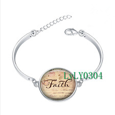 Faith glass cabochon Tibet silver bangle bracelets wholesale