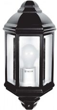 Outside LED 240V Half Lantern IP44 Traditional Mounted Patio Wall Garden Light