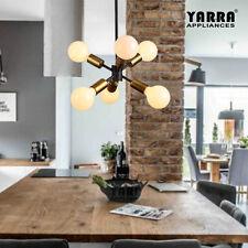 6-Light Vintage Pendant Modern Style Cafe interior design Brass Finish