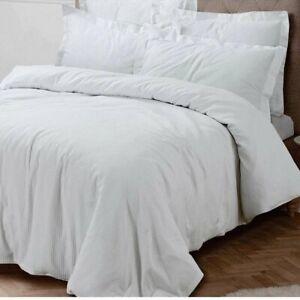 Prime Linens 100% Cotton Waffle Duvet Set - White (Super King) - Repackaged