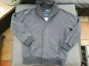 "🔥🔥 ADIDAS Grey Sweatshirt Cardigan Small Mens 44"" chest"