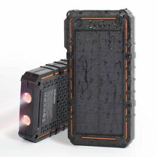 Waterproof 200000mAh Solar Power Bank Portable Battery Charger LED Lighting