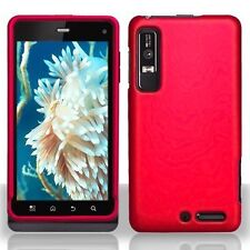 Hard Rubberized Case for Motorola Droid 3 XT862 - Red