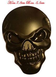 ☼ METALL Totenkopf Schädel 3D Aufkleber Schwarz Skull Auto PKW Sticker Emblem
