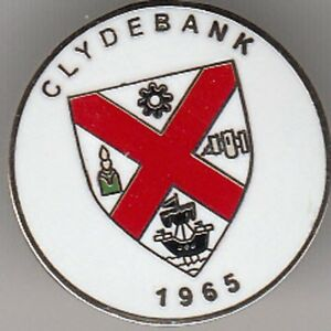 Clydebank - lapel badge butterfly fitting