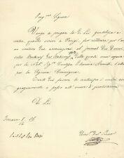 Lettera Autografa Botter a Trentini Ferrara Quota Journal des Demoiselles 1856