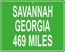 Savannah, Georgia custom mileage sign - distance to your house