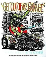 Rat Fink GET OUT OF MY GARAGE Decal Sticker Hot Rod Car  Man Cave