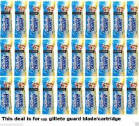 100 X Gillette Guard Razor blade cartidge gilette gilete safty shaving blades