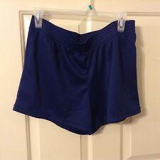 New Danskin Now M 8-10 navy poly elastic waist shorts