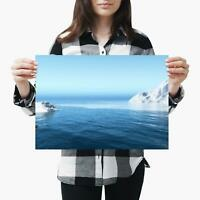 Awesome Iceberg Poster Print Size A4 A3 Sea Nature Art Poster Gift #8523