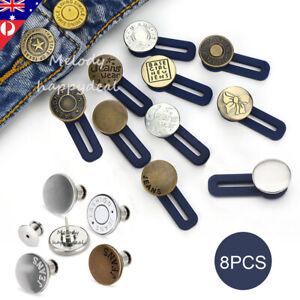 8X Waist Extender Jean Detachable Buttons Adjustable Retractable Extended Buckle