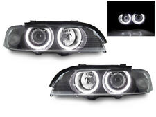 DEPO UHP LED Angel Headlight + Xenon HID For 97-00 BMW E39 Halogen Model Upgrade