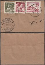 China 1955 - Used stamps on piece of paper. Mi nr.: 301+303+306. (Vg) Mv-4381