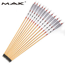 X12 31'' Traditional Wooden Arrows Turkey Feather for classical Longbow hunting