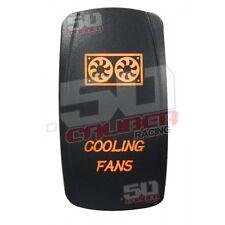 Orange Fan Light Switch RV Trailer MotorHome Camper Toy Hauler Park Diesel Gas
