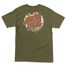 Santa Cruz Trip Dot Skateboard T Shirt Army Green Medium