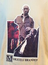 Makaveli Branded Tupac Beige Mens Graphic Hip Hop T-shirt Size XL NWOT NEW