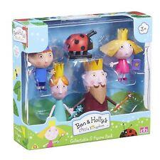 Ben & Holly Kingdom 5 figura paquete Ben Little Holly King Queen Thistle Gaston