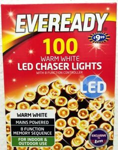 Eveready 100 LED Chaser Christmas Serial String Light -Warm  Deco Outdoor