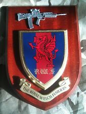 Royal Welch Fusiliers RWF Military Wall Plaque+ Pewter SA80